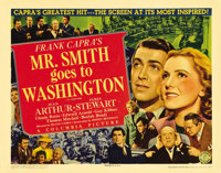 "Mr. Smith Goes to Washington (Columbia, 1939). Title Lobby Card (11"" X 14""). Frank Capra cast his favorite lea..."