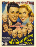 "Movie Posters:Comedy, You Can't Take it with You (Columbia, 1938). Pre-War Belgian Poster(23.75"" X 30.5""). This movie was nominated for seven Aca..."