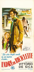 "Movie Posters:Foreign, The Bicycle Thief (Ente Nazionale Industrie Cinematografiche(ENIC), 1948). Italian Locandino (13"" X 27""). The recipient of ..."