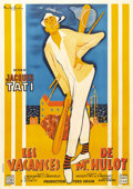 "Movie Posters:Comedy, Mr. Hulot's Holiday (Cady Films, 1953). French Grande (47"" X 63"").Following his acclaimed directorial debut on ""Jour De Fet..."