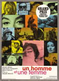 """Movie Posters:Romance, A Man and a Woman (Allied Artists, 1966). French Petite (22.5"""" X30.5""""). """"A Man and a Woman"""" was France's definitive love st..."""
