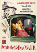 """Movie Posters:Comedy, Too Bad She's Bad (Documento Films, 1954). Italian 2 - Folio (39"""" X55""""). This film marked the first time Sophia Loren (then..."""