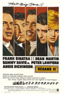 "Movie Posters:Crime, Ocean's 11 (Warner Brothers, 1960). One Sheet (27"" X 41""). FrankSinatra, Dean Martin, Sammy Davis Jr., Peter Lawford, and t..."