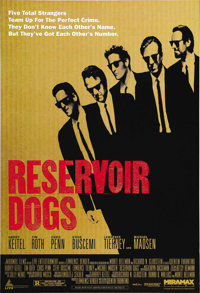 """Reservoir Dogs (Miramax, 1992). One Sheet (27"""" X 41""""). Before giving hope to video store clerks everywhere, th..."""