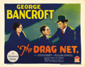 "Movie Posters:Crime, The Drag Net (Paramount, 1928). Title Lobby Card (11"" X 14""). ThisJosef von Sternberg crime drama stars George Bancroft as ..."