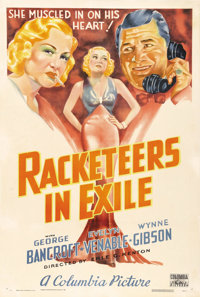 "Racketeers in Exile (Columbia, 1937). One Sheet (27"" X 41""). Columbia was known as a ""poverty row"" s..."