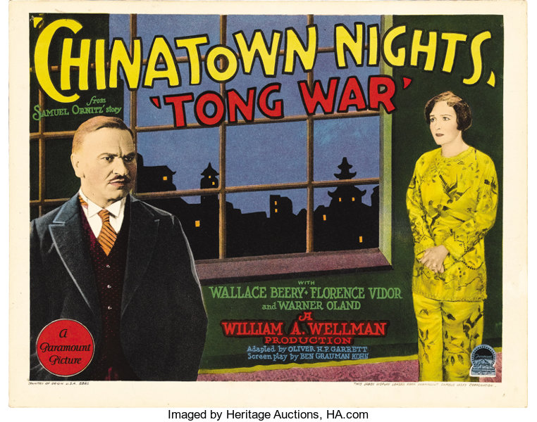 Chinatown Nights Paramount 1929 Title Lobby Card 11 X 14 Lot 28105 Heritage Auctions