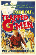 "Movie Posters:Crime, Trapped by G-Men (Columbia, 1937). One Sheet (27"" X 41""). G-ManJack Holt goes undercover posing as a mobster in a prison br..."