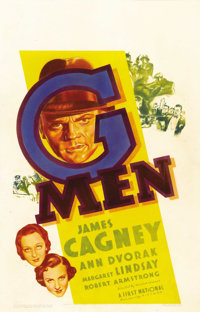 "G-Men (Warner Brothers, 1935). Window Card (14"" X 22""). When the Production Code came down hard on the studios..."