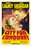 "Movie Posters:Drama, City for Conquest (Warner Brothers, 1940). One Sheet (27"" X 41"").James Cagney delivers one of his most emotional roles as a..."