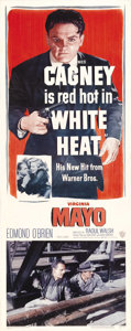 "Movie Posters:Crime, White Heat (Warner Brothers, 1949). Insert (14"" X 36""). Cody Jarrett is a ruthless killer and bank robber in one of Cagney's..."