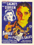 "Movie Posters:Drama, Angels With Dirty Faces (Warner Brothers, 1938). French Grande (47""X 63""). Fabulous artwork of James Cagney, Ann Sheridan a..."