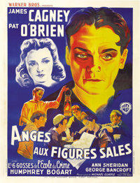 """Angels With Dirty Faces (Warner Brothers, 1938). French Grande (47"""" X 63""""). Fabulous artwork of James Cagney..."""