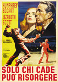 "Movie Posters: , Dead Reckoning (Columbia, R-1958). Italian 2-Folio (39"" X 55"").Amazing artwork of Lizabeth Scott and Humphrey Bogart on thi..."