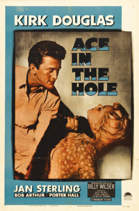 "Ace in the Hole (Paramount, 1951). One Sheet (27"" X 41""). In Billy Wilder's film about sensationalism and the..."
