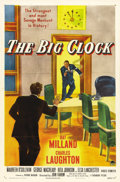 "Movie Posters:Film Noir, The Big Clock (Paramount, 1948). One Sheet (27"" X 41"") Style A. Inthis film noir thriller, Ray Milland plays the editor..."