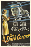 "Movie Posters:Film Noir, The Dark Corner (20th Century Fox, 1946). One Sheet (27"" X 41"").Lucille Ball reveals a flair for fine dramatic acting as a ..."