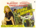 "Movie Posters:Film Noir, Double Indemnity (Paramount, 1944). Half Sheet (22"" X 28"") Style B. Great poster for one of the classiest film noirs eve..."