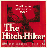 """The Hitch-Hiker (RKO, 1953). Six Sheet (81"""" X 81""""). Ida Lupino directs this taut thriller about a cold-blooded..."""