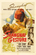 "Movie Posters:Film Noir, The Shanghai Gesture (United Artists, 1942). One Sheet (27"" X 41"").This is a beautiful poster for famed director Josef von ..."