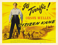 """Citizen Kane (RKO, 1941). Title Lobby Card (11"""" X 14""""). Orson Welles and his Mercury Actors made Hollywood his..."""