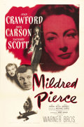 "Movie Posters:Film Noir, Mildred Pierce (Warner Brothers, 1945). One Sheet (27"" X 41"").Michael Curtiz masterfully directed this film that was based ..."