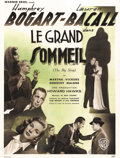 "Movie Posters:Crime, The Big Sleep (Warner Brothers, 1946). French Petite (23.5"" X31.5""). This classic Howard Hawks film noir was based onR..."