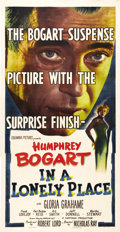 """Movie Posters:Film Noir, In a Lonely Place (Columbia, 1950). Three Sheet (41"""" X 81""""). Director Nicholas Ray was married to Humphrey Bogart's co-star,..."""