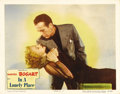 """Movie Posters:Film Noir, In a Lonely Place (Columbia, 1950). Lobby Card (11"""" X 14"""").Humphrey Bogart stars as Dixon Steele, a writer who may or may n..."""