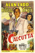 "Movie Posters:Crime, Calcutta (Paramount, 1946). One Sheet (27"" X 41"") This is agorgeous Paramount one sheet from the 1940s for a classicfilm..."