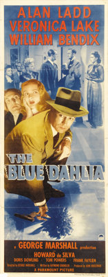 """The Blue Dahlia (Paramount, 1946). Insert (14"""" X 36""""). Alan Ladd and Veronica Lake were reunited for this film..."""