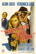 "Movie Posters:Film Noir, This Gun for Hire (Paramount, R-1945). One Sheet (27"" X 41""). Whenreleased in 1942, Paramount found themselves with a huge ..."