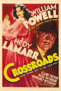 "Movie Posters:Mystery, Crossroads (MGM, 1942). One Sheet (27"" X 41"") Style D. WilliamPowell plays a dramatic role after years of romantic mysterie..."