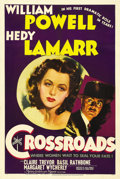 "Movie Posters:Mystery, Crossroads (MGM, 1942). One Sheet (27"" X 41"") Style C. WilliamPowell is a French diplomat caught up in blackmail, when his ..."