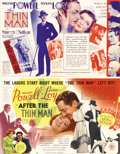 Movie Posters:Mystery, The Thin Man, After the Thin Man lot (MGM, 1934-1936). Heralds (2). The first two adventures of Nick and Nora Charles in the... (Total: 2 Items)