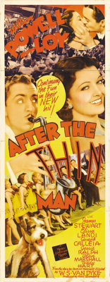 """After the Thin Man (MGM, 1936). Insert (14"""" X 36""""). """"The Thin Man"""" had been such a huge hit for MGM..."""