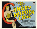 "Movie Posters:Crime, The Canary Murder Case (Paramount, 1929). Title Lobby Card (11"" X14""). This is one of several films in the Philo Vance seri..."
