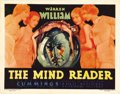 "Movie Posters:Drama, The Mind Reader (First National, 1933). Title Card (11"" X 14"").Warren William, one of the best stars on the Warner lot duri..."