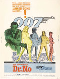 "Movie Posters: , Dr. No (United Artists, 1962). Poster (30"" X 40""). The poster forthe first James Bond film was designed by David Chasman an..."