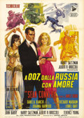 "Movie Posters:James Bond, From Russia With Love (United Artists, 1963). Italian 2 - Folio(39"" X 55""). This Italian poster, with its incredible artwor..."