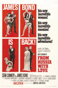 """Movie Posters:James Bond, From Russia With Love (United Artists, 1963). One Sheet (27"""" X 41"""") Style B. Sean Connery stars as James Bond in the second ..."""