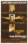 "Movie Posters:James Bond, Goldfinger (United Artists, 1964). One Sheet (27"" X 41""). Thisposter is from the third installment in the Bond/Connery seri..."