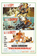 "Movie Posters:James Bond, Thunderball (United Artists, 1965). One Sheet (27"" X 41""). The fourth installment in the James Bond series is a lively spect..."