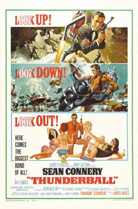 """Thunderball (United Artists, 1965). One Sheet (27"""" X 41""""). The fourth installment in the James Bond series is..."""