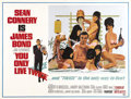"Movie Posters:James Bond, You Only Live Twice (United Artists, 1967). Subway (41"" X 54"").Sean Connery as James Bond goes to Japan to keep the U.S. an..."