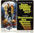 "Movie Posters:James Bond, Diamonds are Forever (United Artists, 1971). Six Sheet (81"" X 81""). Sean Connery, as master spy 007, is surrounded by beauti..."