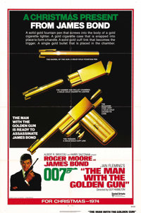 """The Man With the Golden Gun (United Artists, 1974). One Sheet (27"""" X 41"""") Advance. Roger Moore returns to the..."""