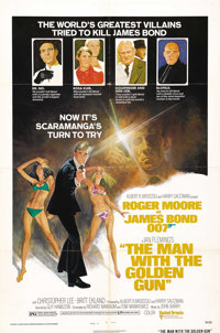 "The Man With the Golden Gun (United Artists, 1974). One Sheet (27"" X 41"") Style B. Roger Moore stars in this..."