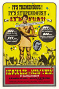 """Movie Posters:Action, Hercules in New York (AIP, 1970). One Sheet (27"""" X 41""""). In ArnoldSchwarzenegger's first film role, the muscle man plays a ..."""