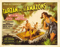 "Movie Posters:Adventure, Tarzan and the Amazons (RKO, 1945). Title Lobby Card (11"" X 14"").This great title card has the best art for this Johnny Wei..."